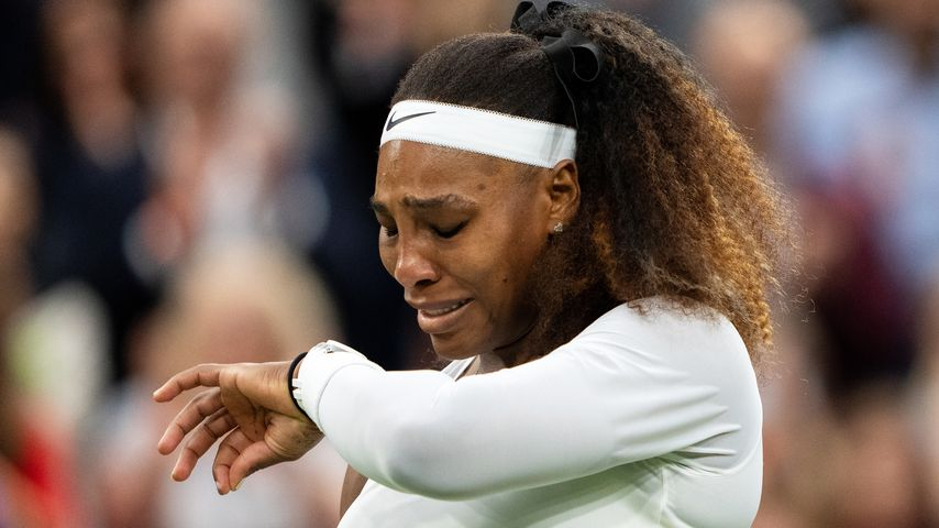 Serena Williams bei ihrem Wimbledonspiel in London im Juni 2021