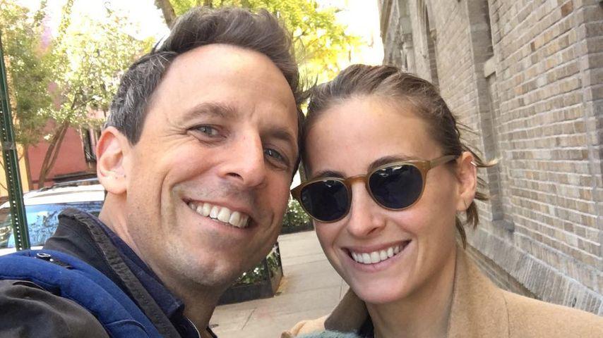 TV-Host Seth Meyers und seine Frau Alexi mit Sohn Ashe Olsen