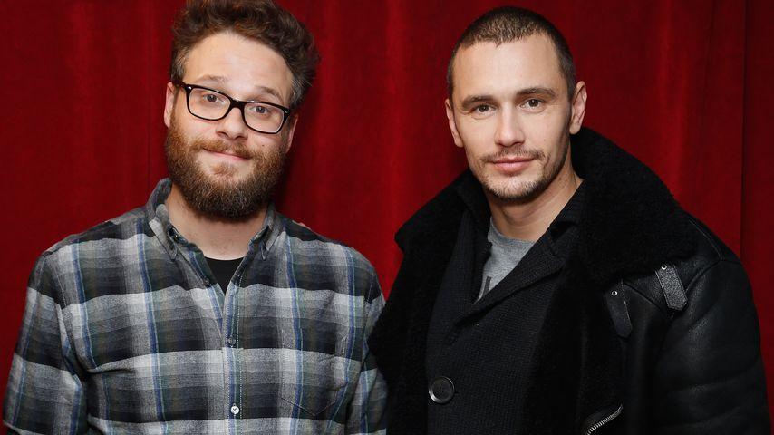 Seth Rogen und James Franco in NYC im Dezember 2014