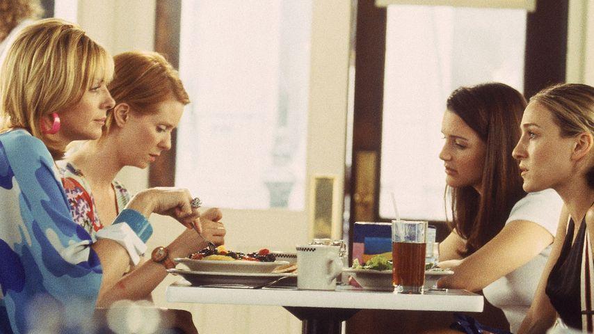 "Sarah Jessica Parker, Kim Cattrall, Kristin Davis und Cynthia Nixon in ""Sex and the City"""