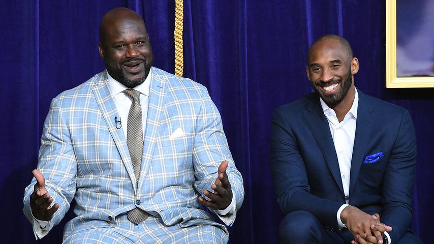 Shaquille O'Neal und Kobe Bryant bei einer Statuen-Enthüllung im Staples Center in LA, März 2017