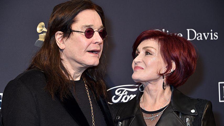 Ozzy und Sharon Osbourne bei der Pre-Grammy Gala in Beverly Hills, 2020
