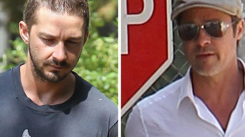 Besiegt Shia LaBeouf dank Brad Pitt seine Sucht?