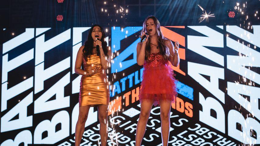 """Shinade und Leonie bei der RTL2-Show """"Battle of the Bands"""""""