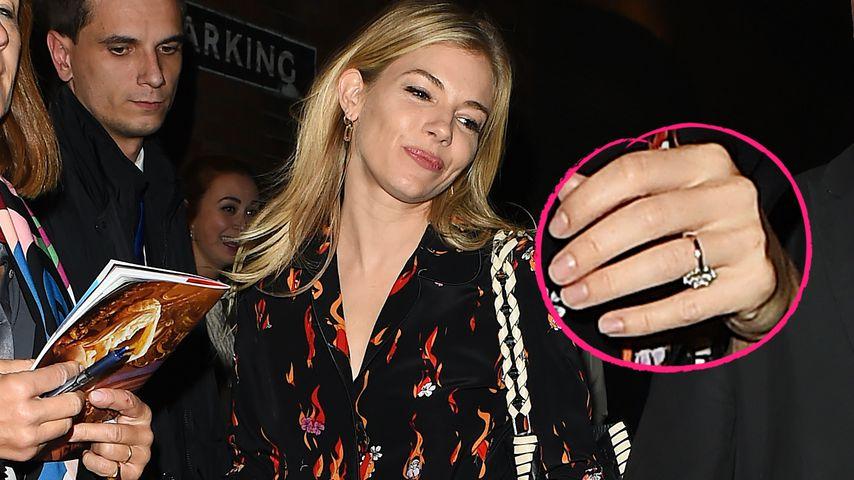 Verdächtiger Klunker: Hat sich Sienna Miller etwa verlobt?