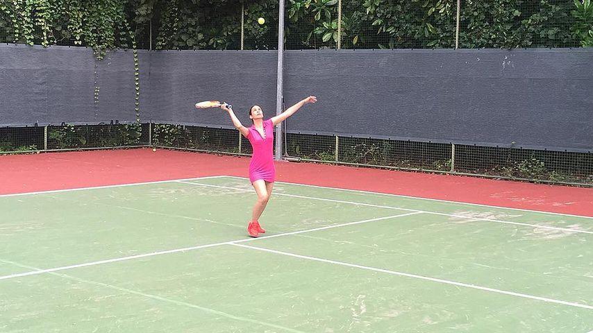 Sportlicher Honeymoon: Sila Sahin auch im Urlaub fit!