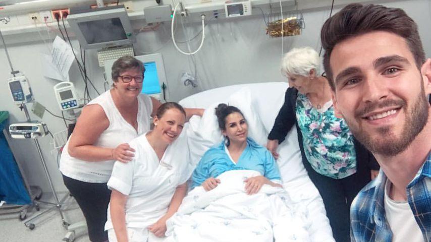 Sila Sahin und Samuel Radlinger im Krankenhaus