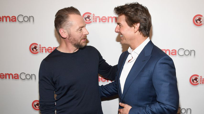 Simon Pegg und Tom Cruise bei einem Film-Event
