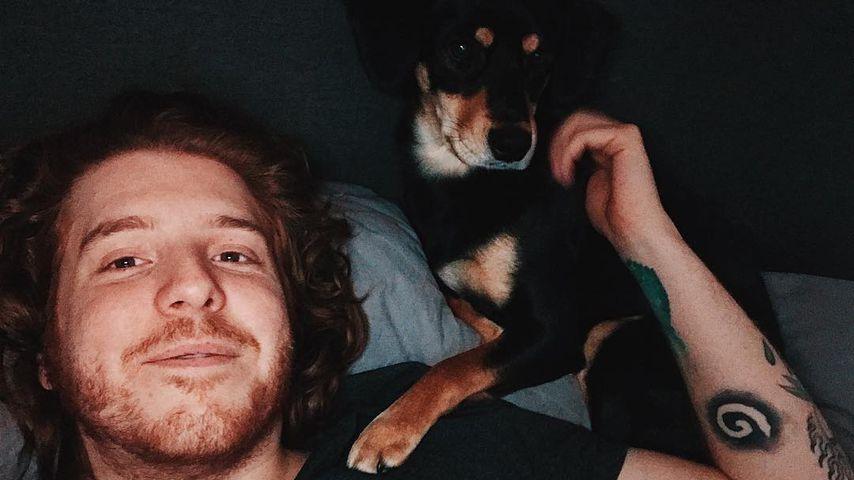 Simon Unge mit seinem Hund