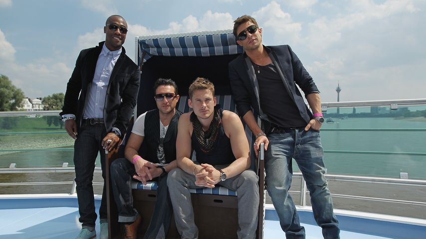 Simon Webbe, Anthony Costa, Lee Ryan and Duncan James der Band Blue 2011 in Düsseldorf