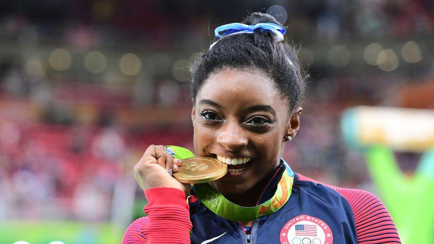 Turnerin Simone Biles bei den olympischen Spielen 2016