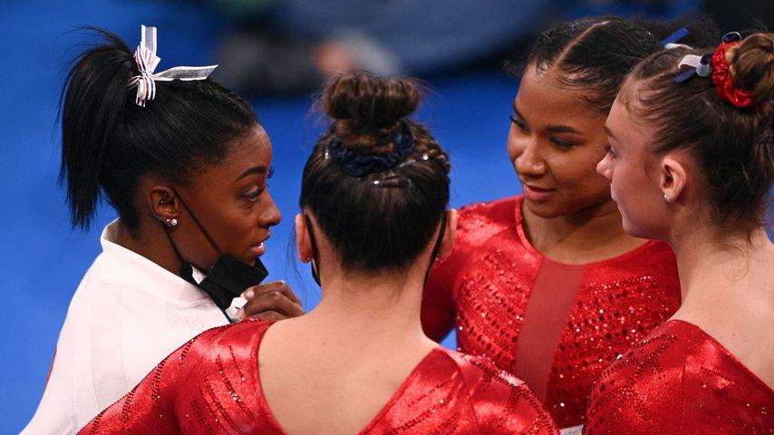Simone Biles und ihre Teamkameradinnen bei den Olympischen Sommerspielen in Tokio im Juli 2021