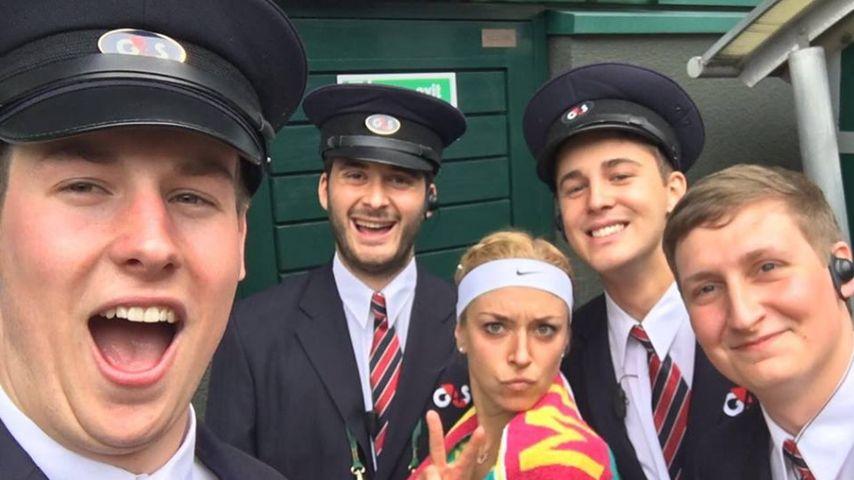Wimbledon-Fun: Sabine Lisicki genießt ihren Tennis-Erfolg
