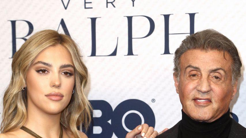 Sistine Rose und ihr Vater Sylvester Stallone im November 2019 in Beverly Hills