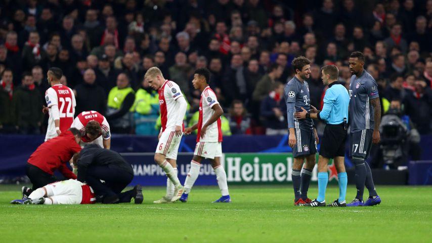 Situation im Champions League-Spiel Bayern München gegen Ajax Amsterdam, Dezember 2018