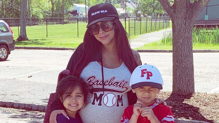 Snooki mit ihrer Tochter Giovanna und ihrem Sohn Lorenzo
