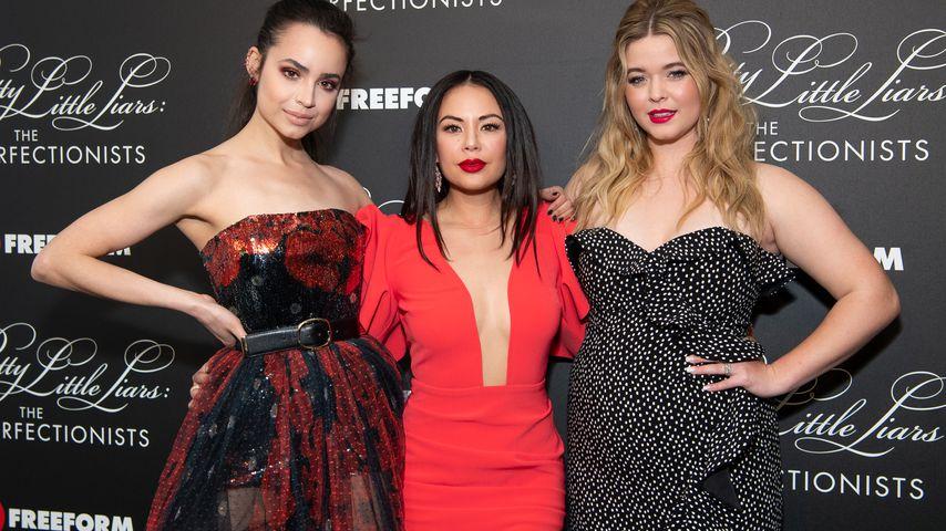 """Sofia Carson, Janel Parrish und Sasha Pieterse bei der Premiere von """"The Perfectionists"""""""