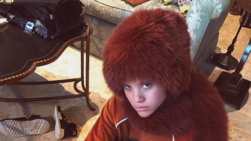 Kuschel-Graus: Was trägt Sofia Richie denn da auf dem Kopf?!