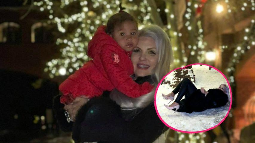 Mit High Heels im Schnee toben? Sophia Vegas plumpst hin!