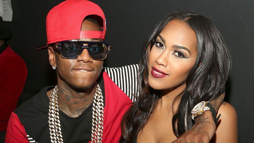 Soulja Boy und Nia Riley bei dem Love & Hip Hop: Hollywood Premiere Event 2014