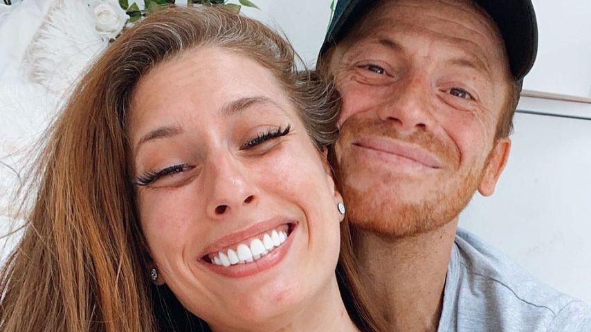 Stacey Solomon mit ihrem Partner Joe
