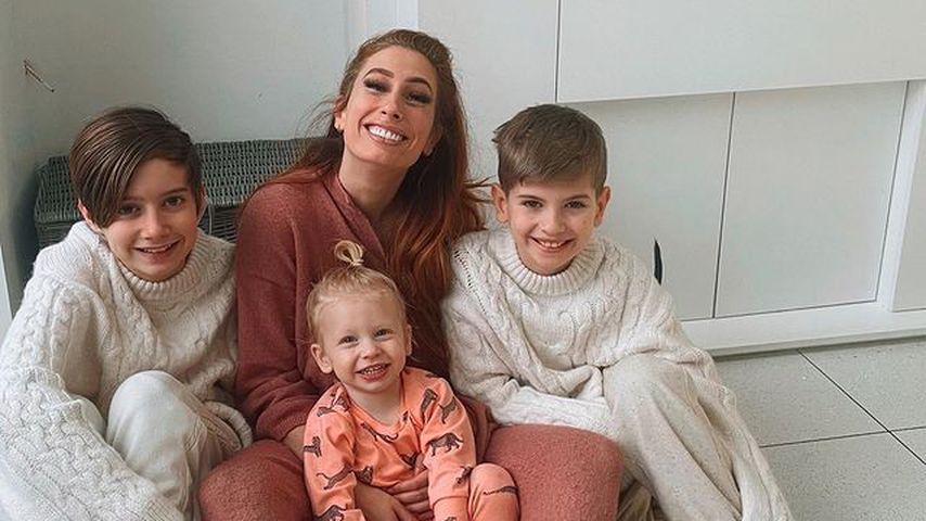 Stacey Solomon mit ihren Söhnen