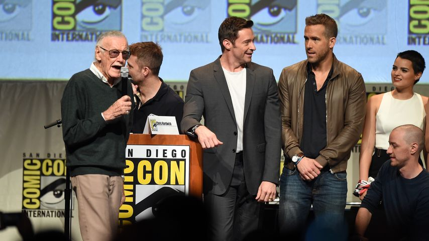 Ryan Reynolds, Hugh Jackman und Stan Lee