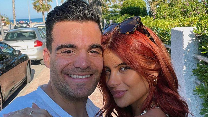 Stefano Zarella y Romina Palm en junio de 2021