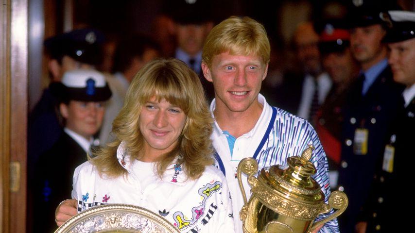 Steffi Graf und Boris Becker in London, 1989