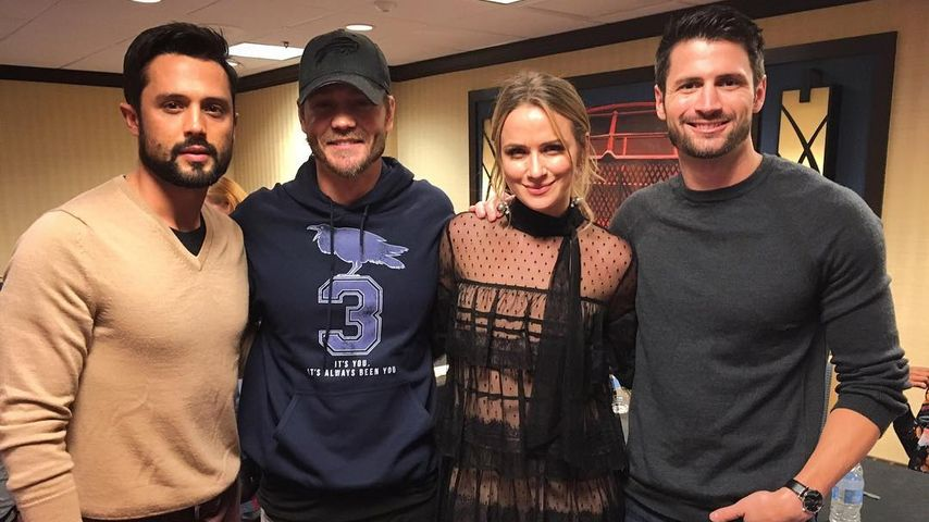 Stephen Coletti, Chad Michael Murray, Shantel Van Santen und James Lafferty 2016 in Chicago