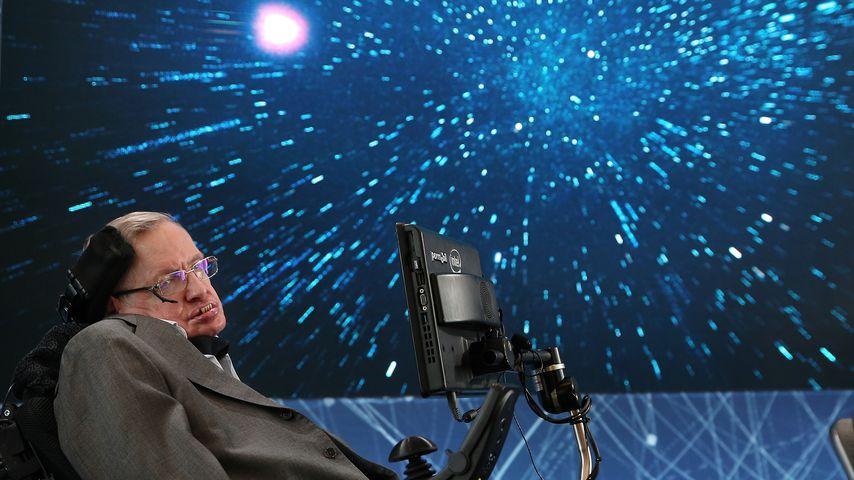 Stephen Hawking bei einem Vortrag 2016 in New York