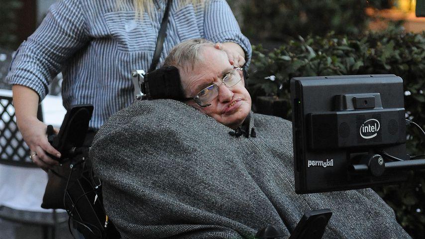 Stephen Hawking nach einem Restaurant-Besuch in Rom 2016