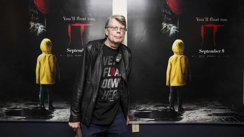"""Stephen King bei einem Screening von """"Es"""" in Maine 2017"""