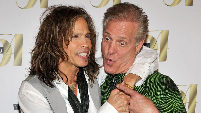 Steven Tyler und sein Aerosmith-Kollege Ray Tabano