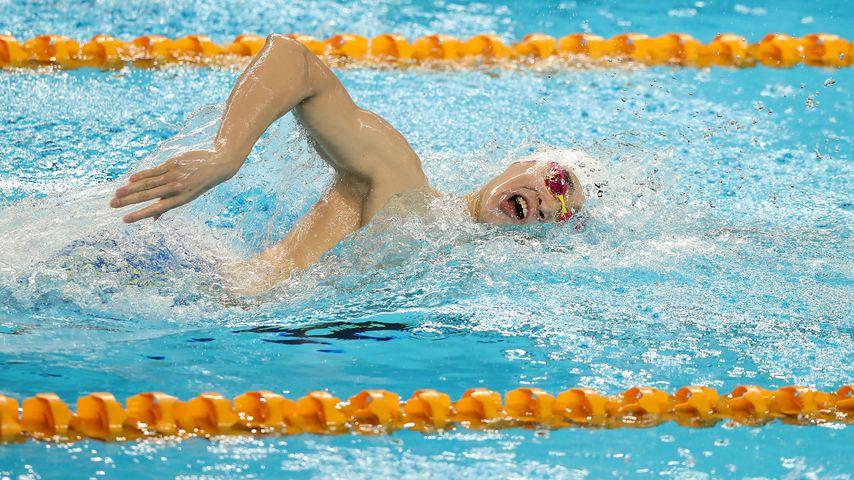 Sun Yang bei einem Schwimmwettkampf im Januar 2020