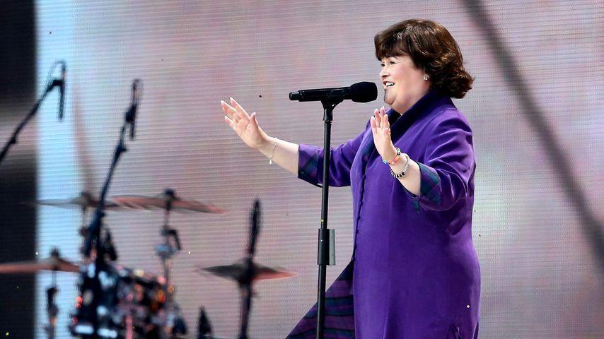 Susan Boyle bei einem Auftritt in Glasgow, 2014