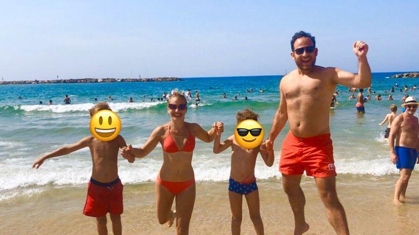 Susan Sideropoulus und ihre Familie im Urlaub