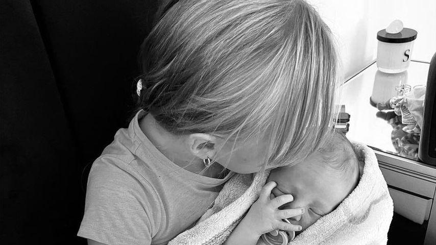 Susie Bradleys Tochter mit ihrem Bruder Lion Daryl