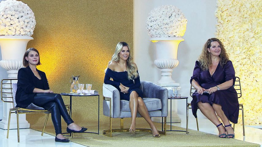 """Sylvie Meis (m.) mit ihrem Team bei """"Sylvies Dessous Models"""""""