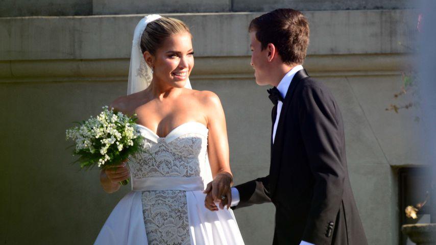 Sylvie Meis und ihr Sohn Damian bei ihrer Hochzeit in Florenz