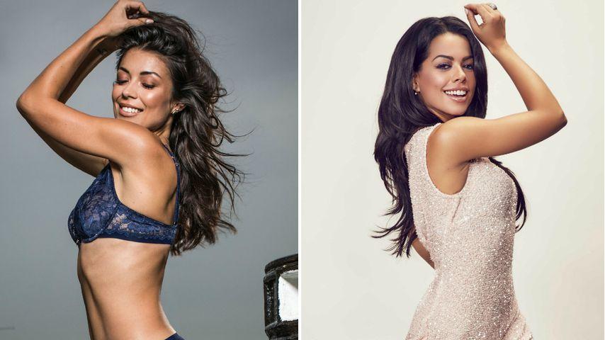 "Collage: ""Sylvies Dessous Models""-Kandidatin Tahnee und Tänzerin Fernanda Brandao"