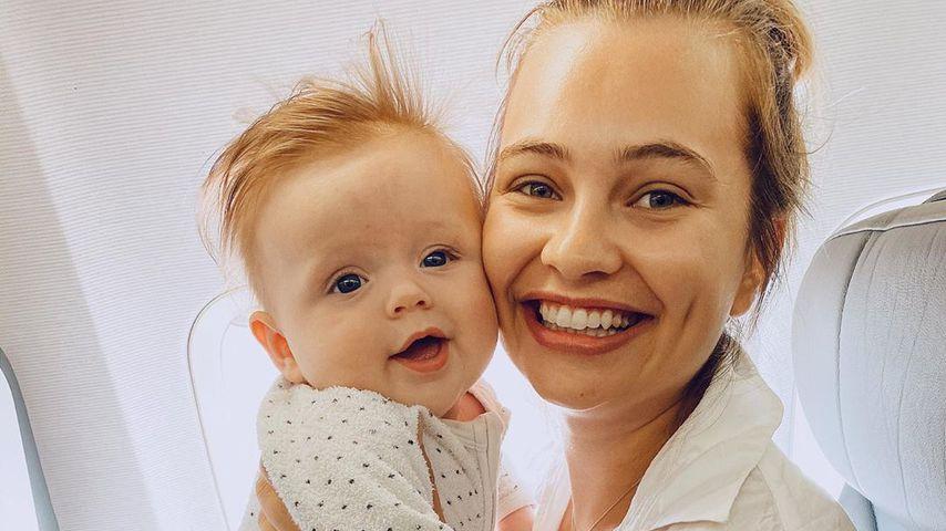 Tahlia Giumelli mit ihrer Tochter Sophie, Dezember 2019