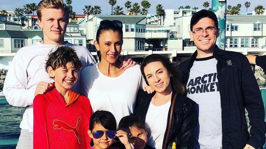 Talinda Bennington mit ihrer Familie, Mai 2018