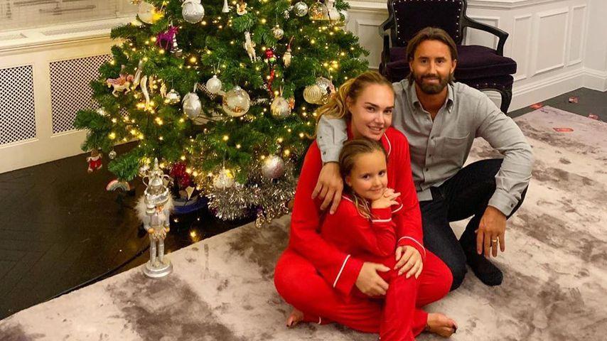 Tamara Ecclestone mit Töchterchen Sophia und Mann Jay Rutland