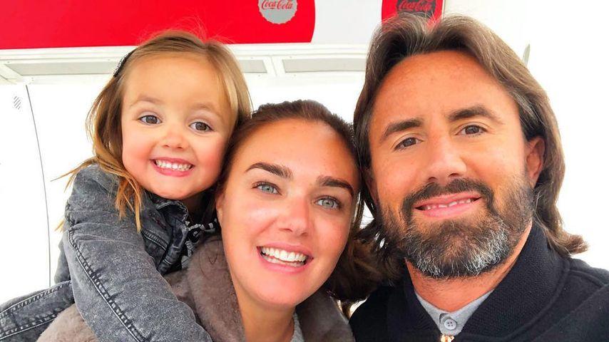 Tamara Ecclestone und ihr Mann Jay Rutland mit ihrer Tochter Sophia