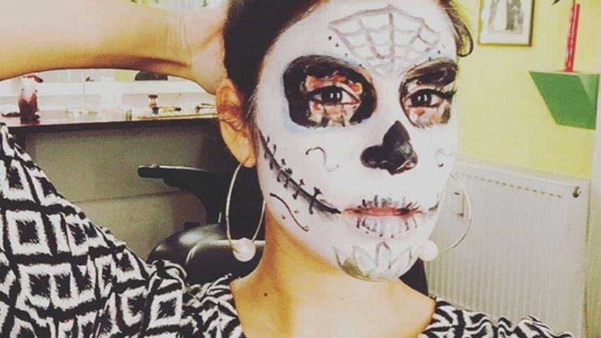 Schauriger Halloween-Look: Tanja Tischewitsch als Untote