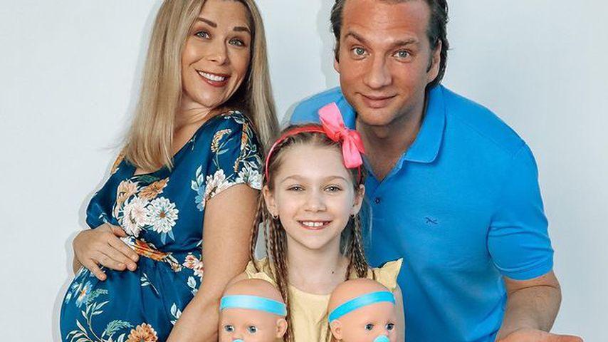 Tanja Szewczenko mit ihrem Partner Norman Jeschke und ihrer Tochter Jona