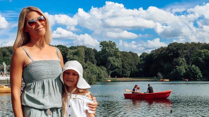 Tanja Szewczenko mit ihrer Tochter Jona