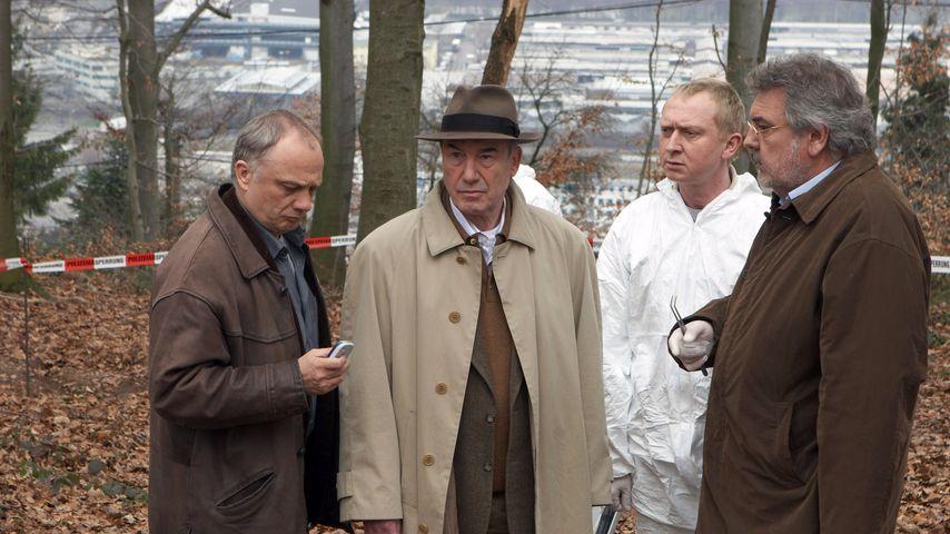 """""""Tatort""""-Kollegen Rüdiger Wandel, Dietz-Werner Steck, Dirk Salomon und Klaus Spürkel am Set"""