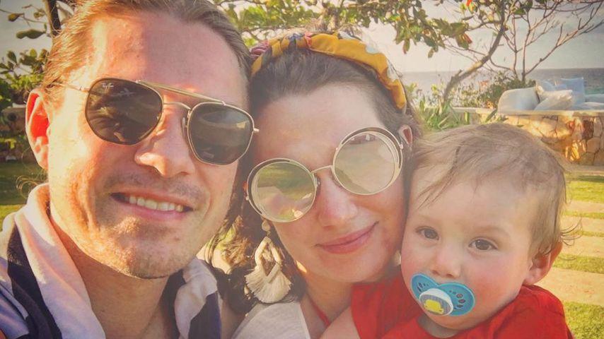 Taylor Hanson mit seiner Frau und einem seiner Kinder, Februar 2020